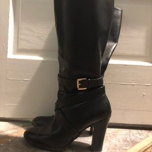 Black (synthetic) Leather Chaps Boots